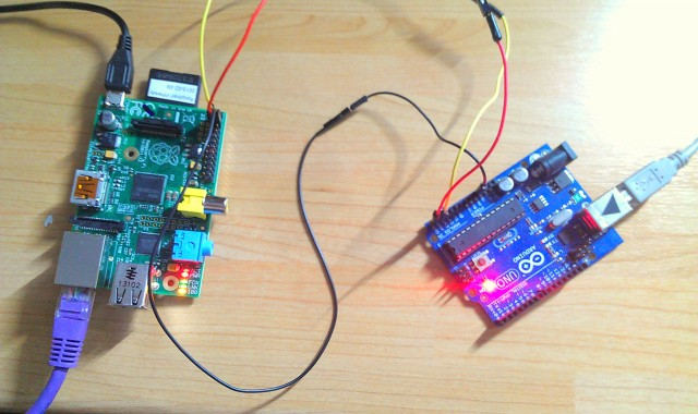 Raspberry-PI-I2c-Arduino-connected