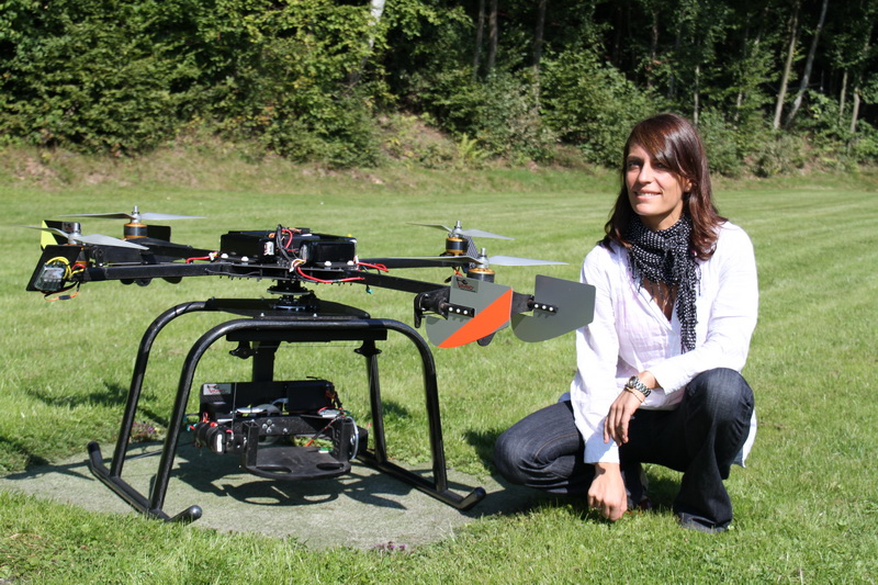 The Quadcopters exist in many different sizes. From as small as a CD