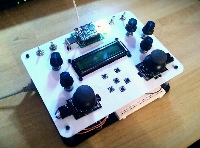 Diy wireless rc remote controller for robots quadcopter