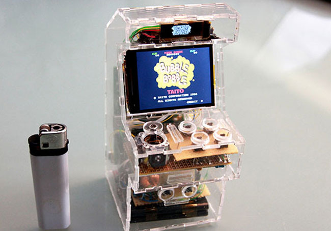 his gaming cabinet portable, the author had to use his old cell phone ...