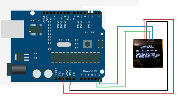 Arduino sketch using I2c 16x2 lcd causes regist Intel