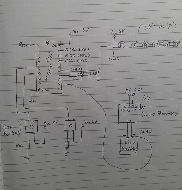 diy bike light circuit diagram diy programmable bike light arduino or attiny and rgb led 3-Way Switch Wiring Diagram Variations at mifinder.co