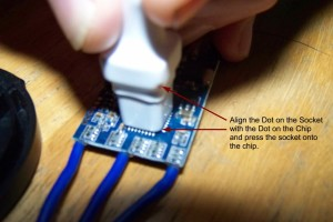 how to flash ESC with atmega flash tool orientation