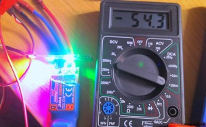 current test of 3 led naze32 cleanflight rgb WS2811
