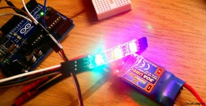 test with arduino naze32 cleanflight led rgb WS2811