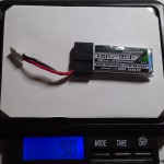 weight-Turnigy nano-tech 300mah 1S 45~90C Lipo