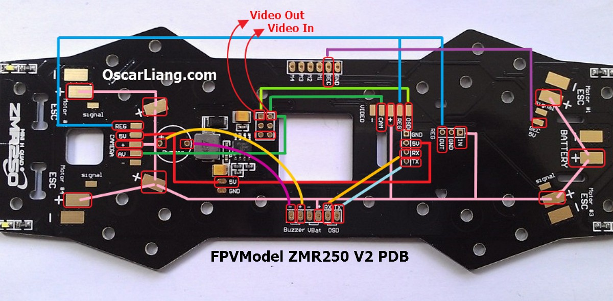 zmr250 v2 build log mini quad pdb oscar liang zmr250 v2 mini quad frame pdb connection line