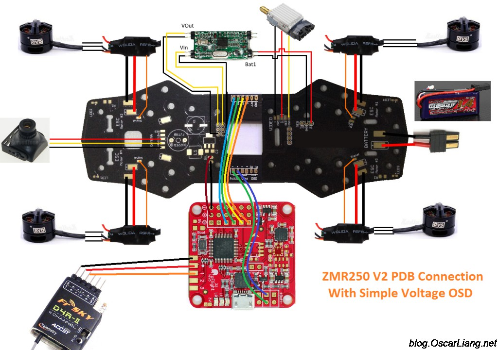 zmr250 pdb connection diagram simple osd voltaged zmr250 v2 build log mini quad with pdb oscar liang wiring diagram for a ccd camera at gsmportal.co