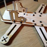 PeasantCopter Mini Quad Frame Plywood - assembly arms