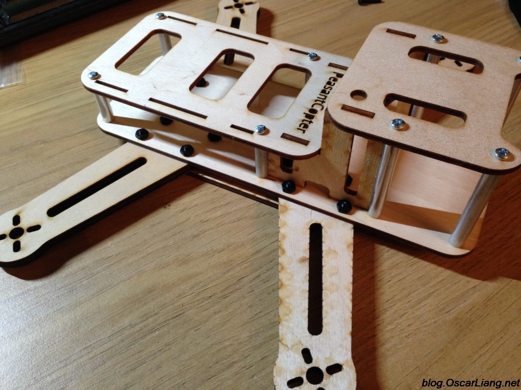 Review - PeasantCopter Mini Quad Frame - Made of Wood! - Oscar Liang