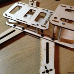 PeasantCopter Mini Quad Frame Plywood - assembly top plates