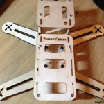 PeasantCopter Mini Quad Frame Plywood - back