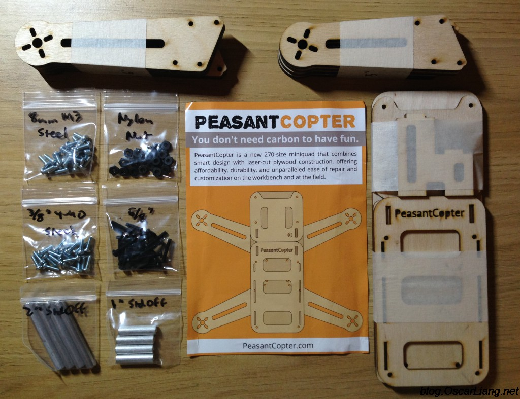 peasantcopter mini quad frame plywood package content - Mini Picture Frame