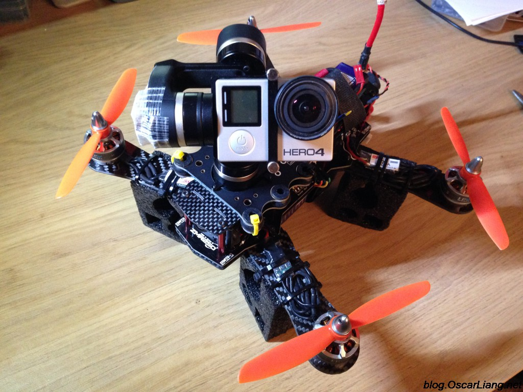 Mount camera gimbal on mini quadcopter feiyu d