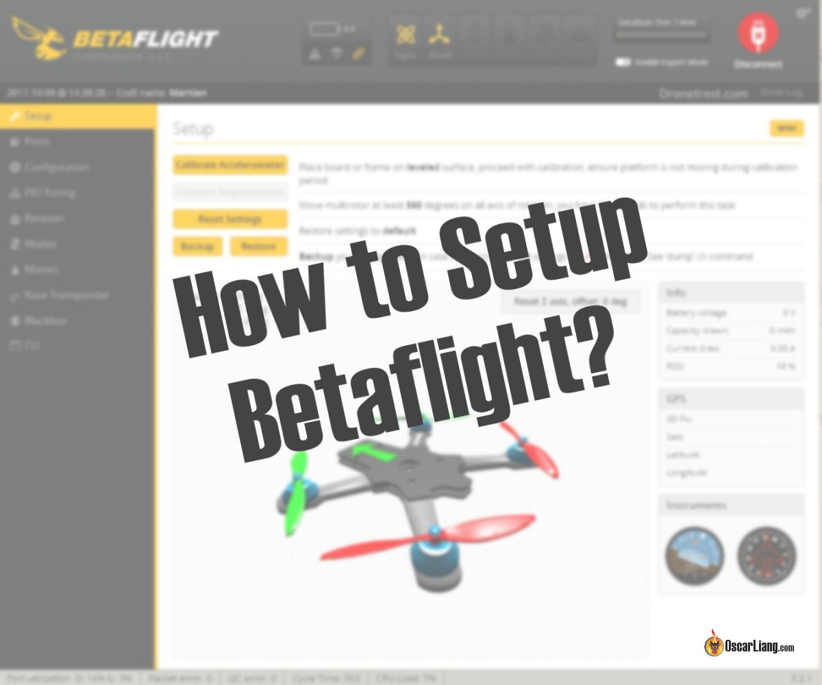 How To Build A Racing Drone Fpv Mini Quad Beginner Guide Oscar Liang Basic Quadcopter Wiring Diagram Manual Setup Betaflight For Your First Flight Follow The Instructions In This Time