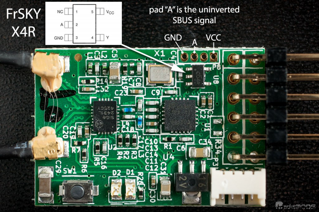 Uninverted Sbus And Smart Port On Frsky Receivers