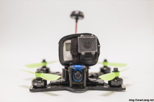 The Midge 180 Mini Quad Frame build front