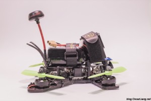 The Midge 180 Mini Quad Frame build side 1