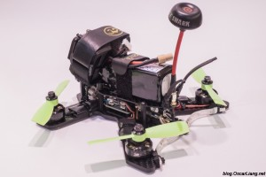 The Midge 180 Mini Quad Frame build tail
