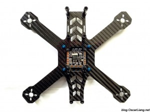 speed addict 210 mini quad frame pdb top