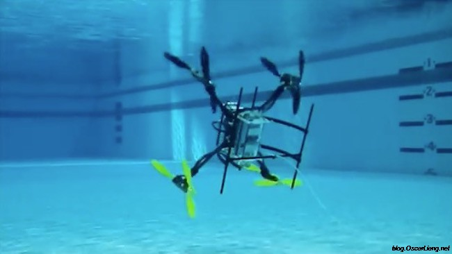 Flying Quadcopter Under Water Waterproof Drone Oscar Liang