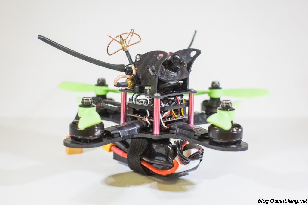 Mitsuko 150 Mini Quad frame build side
