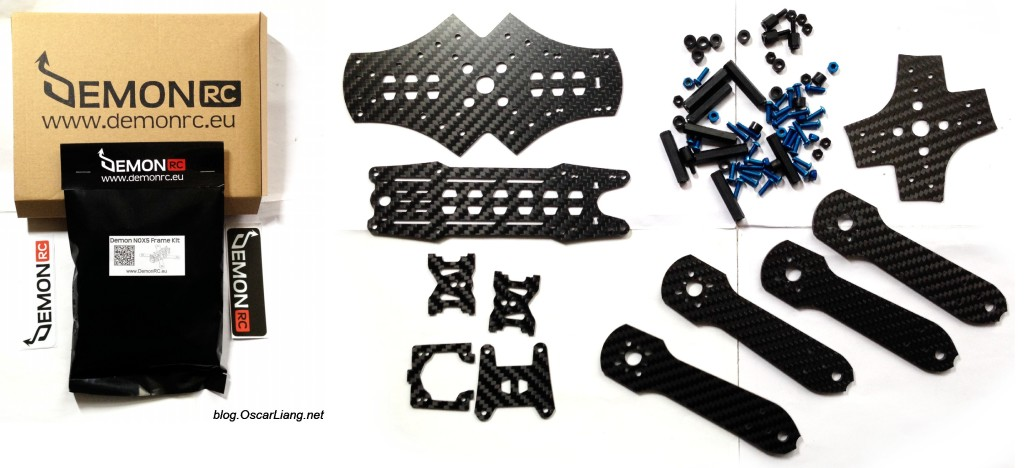 DemonRC NOX5 210 Mini Quad Frame parts package