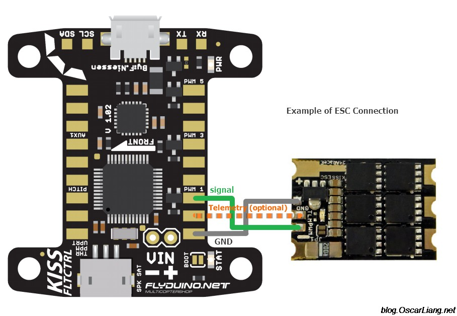 KISS FC ESC 24A connection telemetry signal gnd kiss fc flight controller review oscar liang Brushless ESC Wiring-Diagram at reclaimingppi.co
