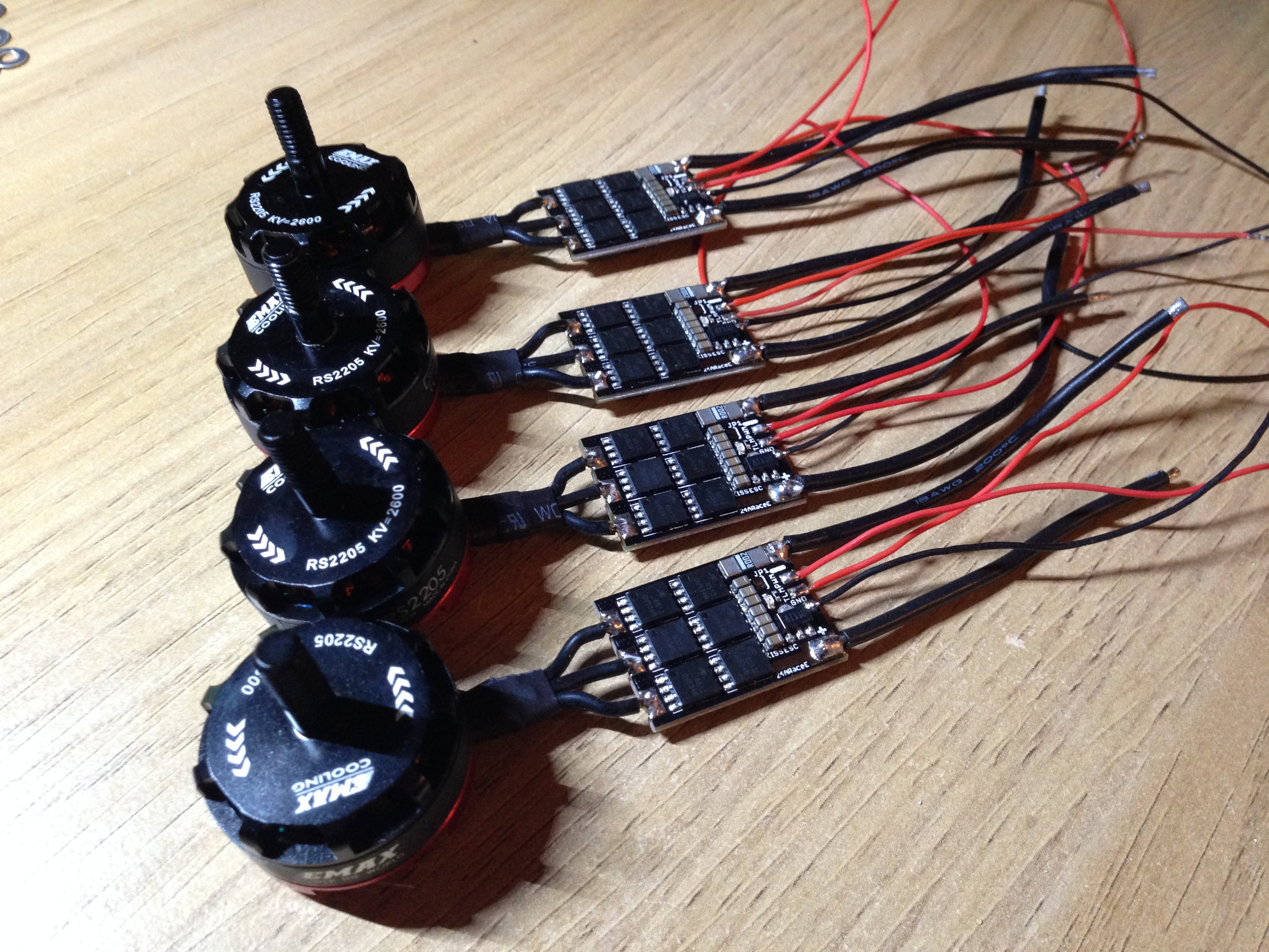 emax rs2205 motors soldered on kiss 24a esc demonrc nox5 210 mini quad frame oscar liang Brushless ESC Wiring-Diagram at crackthecode.co
