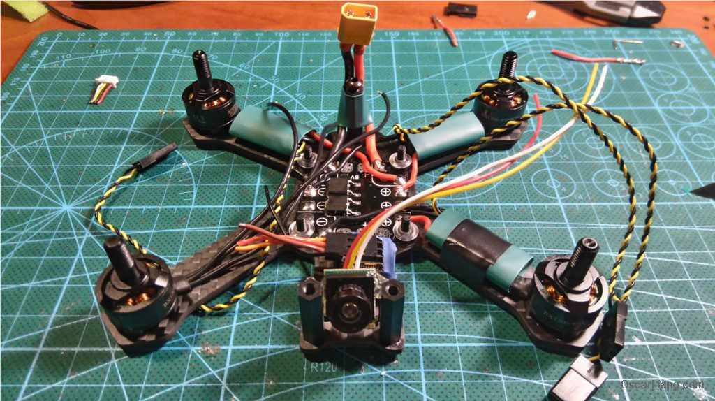 Airblade Assault 130 build camera hot glue