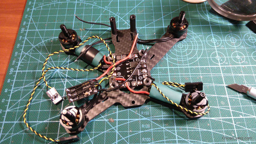 Airblade Assault 130 build motor esc soldering