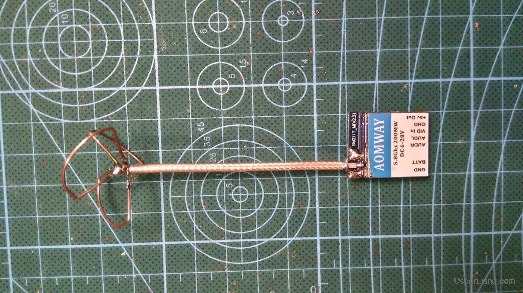Airblade Assault 130 build vtx antenna aomway