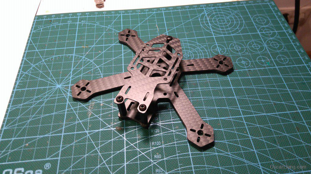 Airblade Assault 130 micro quad frame assembled