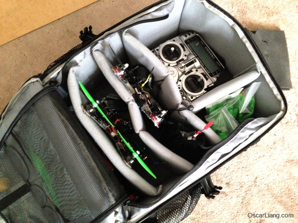 MultiStar Premium Multirotor Travel Backpack TX mini quad tool props