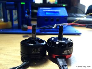 dys se2205 2300kv motor mini quad prop shaft height emax rs2205
