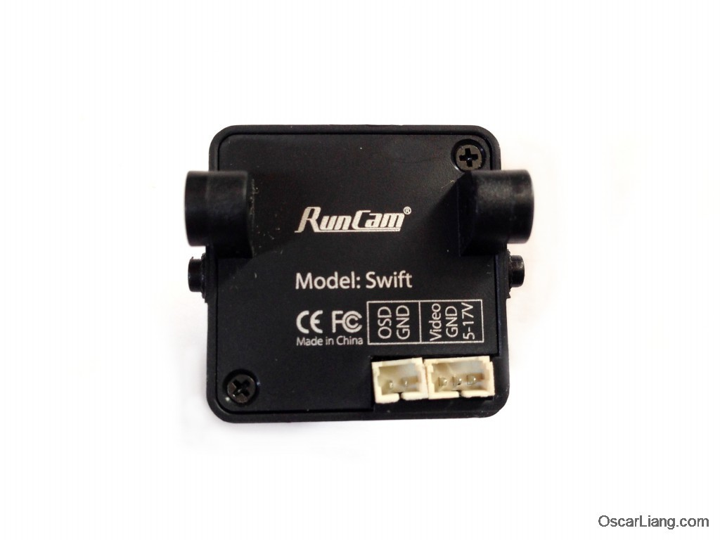 runcam swift fpv camera back connectors