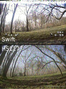 runcam swift vs hs1177 picture comparison dark shade