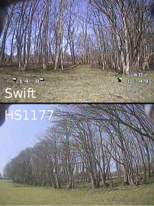 runcam swift vs hs1177 picture comparison dark wide dynamic range wdr