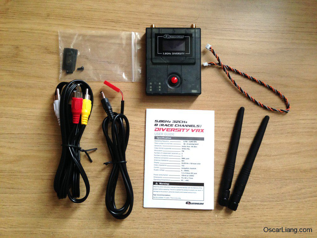 Quanum FPV Diversity Receiver package content unbox