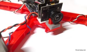 micro quad hyperion mini fpv combo mounting on oskie frame