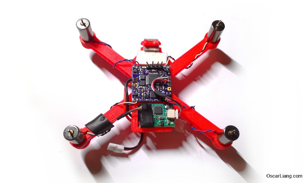 micro quad mounting srp8 radio receiver on oskie frame