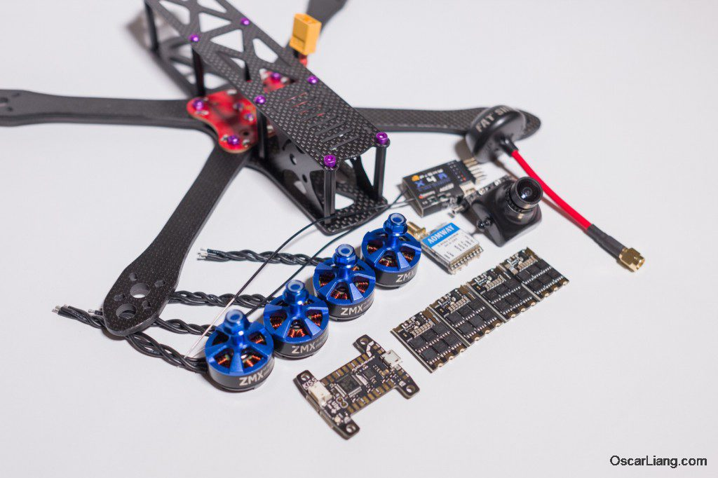 Alien 6 Mini Quad Frame Build_01 components electronics