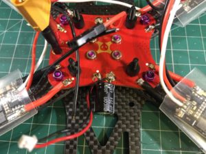 Alien 6 Mini Quad build 04 esc solder on pdb xt60