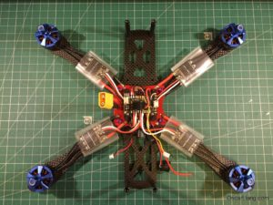 Alien 6 Mini Quad build 07 mounting motors esc solder on fc