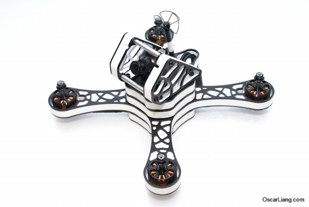 RaGG-e WBX 5 Mini Quad build fpv camera cage top