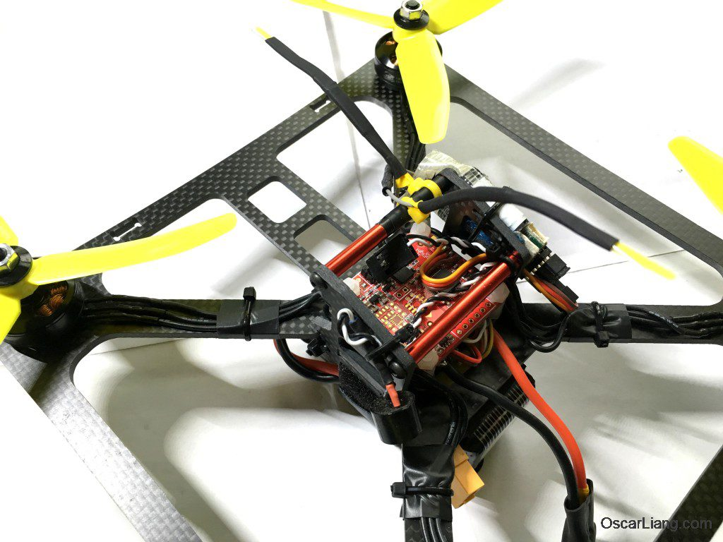 banggood 230 durable mini quad LOS build buzzer close up