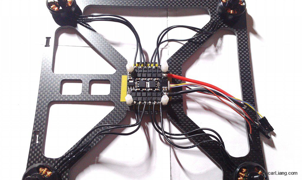 banggood 230 durable mini quad LOS build motor wires solder on esc