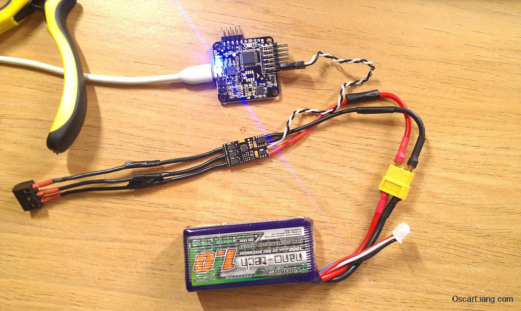 flash esc via flight controller naze32 aikon sefm 30a esc