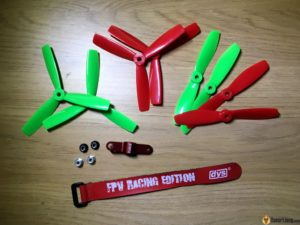 DYS Lightning X220 fpv race mini quad accessories props battery straps