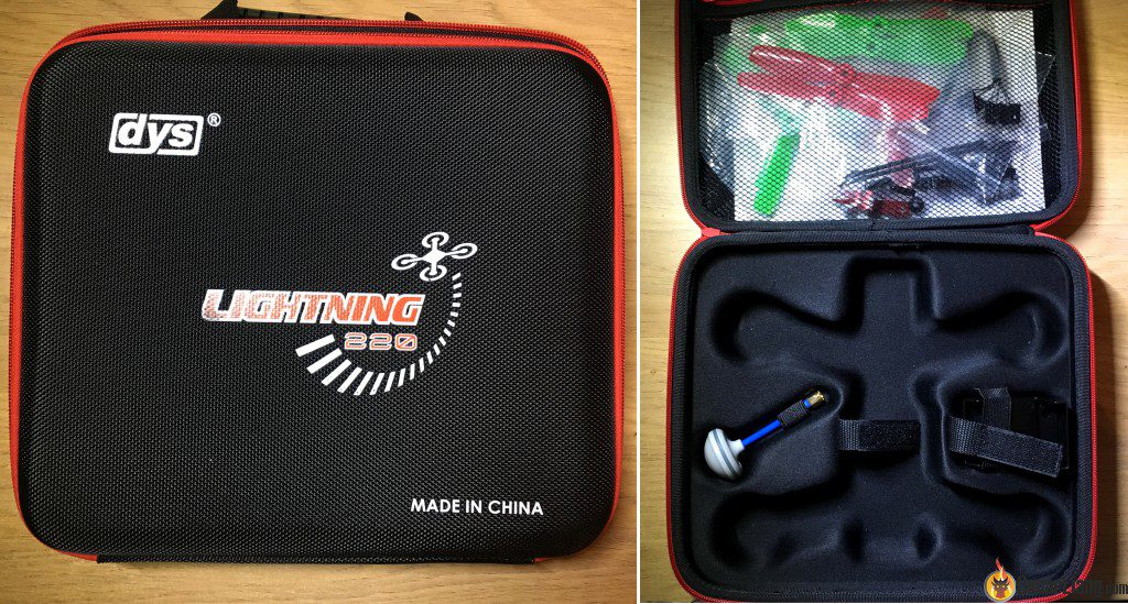 DYS Lightning X220 fpv race mini quad carry case